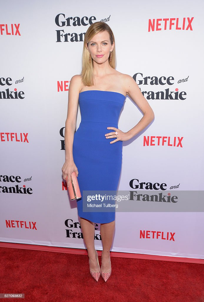 Actress Brooklyn Decker attends the premiere of Season 2 of the Netflix Original Series 'Grace & Frankie' at Harmony Gold on May 1, 2016 in Los Angeles, California.