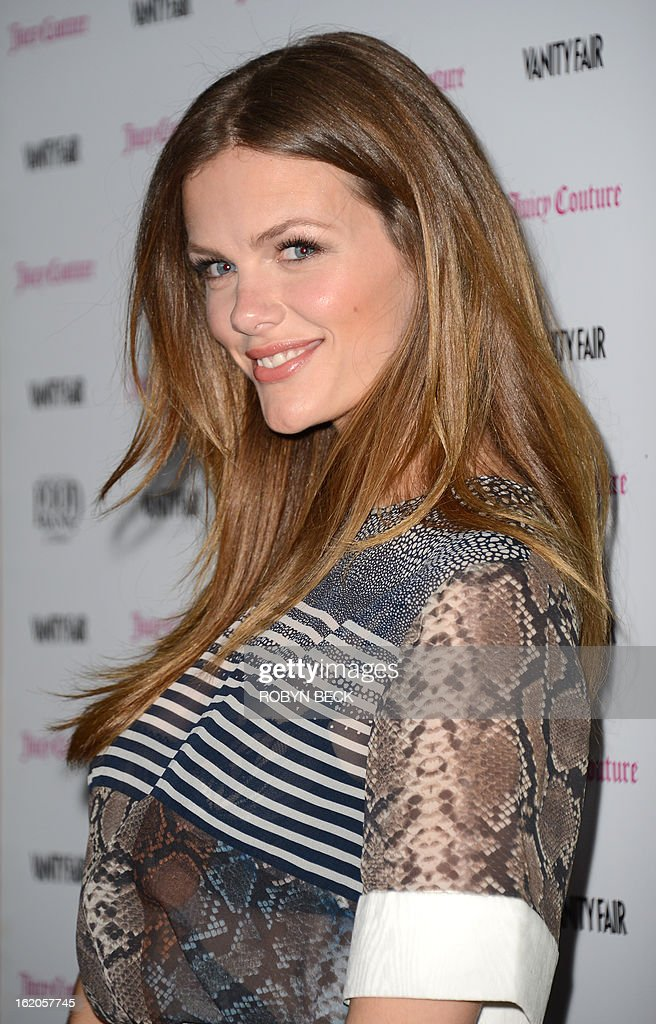 Actress Brooklyn Decker attends the Vanity Fair And Juicy Couture Celebration Of The 2013 Vanities Calendar party at Chateau Marmont February 18, 2013 in West Hollywood, California. AFP PHOTO Robyn BECK