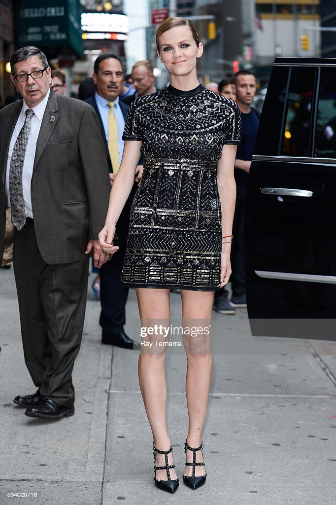 Actress <a gi-track='captionPersonalityLinkClicked' href=/galleries/search?phrase=Brooklyn+Decker&family=editorial&specificpeople=815965 ng-click='$event.stopPropagation()'>Brooklyn Decker</a> leaves 'The Late Show With Stephen Colbert' taping at the Ed Sullivan Theater on May 24, 2016 in New York City.