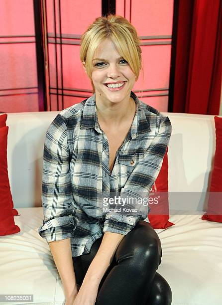 Actress Brooklyn Decker visits YoungHollywoodcom at Young Hollywood Studio on January 21 2011 in Los Angeles California