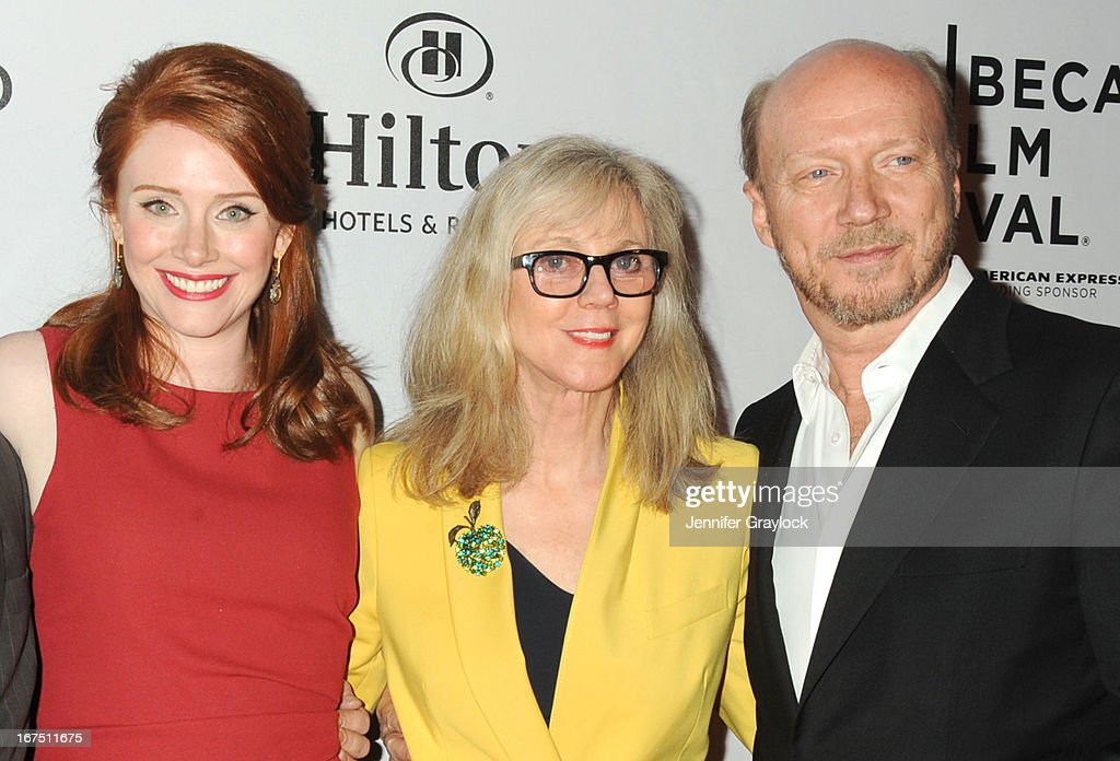 Actress <a gi-track='captionPersonalityLinkClicked' href=/galleries/search?phrase=Bryce+Dallas+Howard&family=editorial&specificpeople=156411 ng-click='$event.stopPropagation()'>Bryce Dallas Howard</a>, Actress <a gi-track='captionPersonalityLinkClicked' href=/galleries/search?phrase=Blythe+Danner&family=editorial&specificpeople=171210 ng-click='$event.stopPropagation()'>Blythe Danner</a> and Director <a gi-track='captionPersonalityLinkClicked' href=/galleries/search?phrase=Paul+Haggis&family=editorial&specificpeople=213967 ng-click='$event.stopPropagation()'>Paul Haggis</a> attend the 2013 Tribeca Film Festival awards at The Conrad New York on April 25, 2013 in New York City.