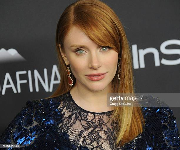 Actress Bryce Dallas Howard arrives at the 2016 InStyle And Warner Bros 73rd Annual Golden Globe Awards PostParty at The Beverly Hilton Hotel on...