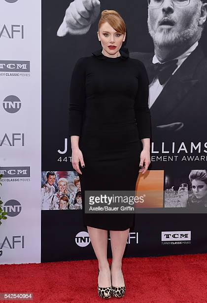 Actress Bryce Dallas Howard arrives at the 44th AFI Life Achievement Awards Gala Tribute to John Williams at Dolby Theatre on June 9 2016 in...