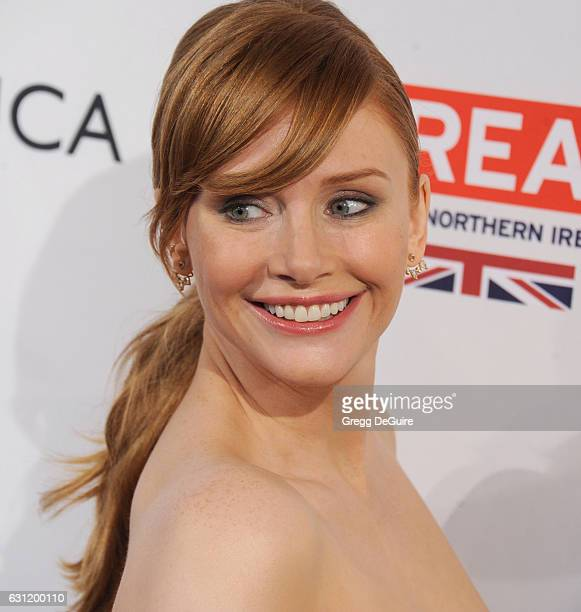 Actress Bryce Dallas Howard arrives at The BAFTA Tea Party at Four Seasons Hotel Los Angeles at Beverly Hills on January 7 2017 in Los Angeles...