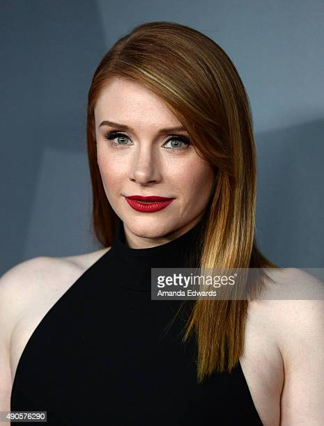Actress Bryce Dallas Howard arrives at The Los Angeles Philharmonic 2015/2016 Season Opening Night Gala at the Walt Disney Concert Hall on September...