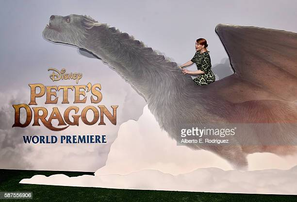 Actress Bryce Dallas Howard arrives at the world premiere of Disney's 'PETE'S DRAGON' at the El Capitan Theater in Hollywood on August 8 2016 The new...