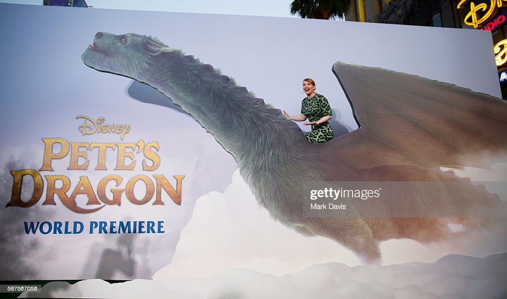 Actress Bryce Dallas Howard attends Disney's premiere of 'Pete's Dragon' held at the El Capitan Theatre on August 8 2016 in Hollywood California