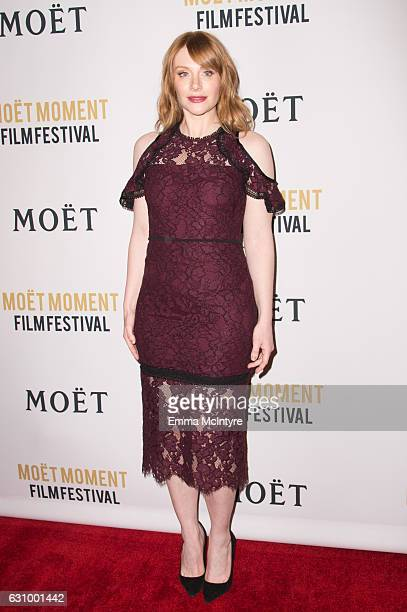 Actress Bryce Dallas Howard attends 'Moet and Chandon celebrates the 2nd annual Moet Moment Film Festival' at Doheny Room on January 4 2017 in West...