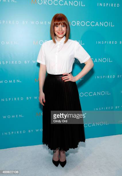 Actress Bryce Dallas Howard attends Moroccanoil Inspired by Women campaign launch event at the IAC Building on September 17 2014 in New York City