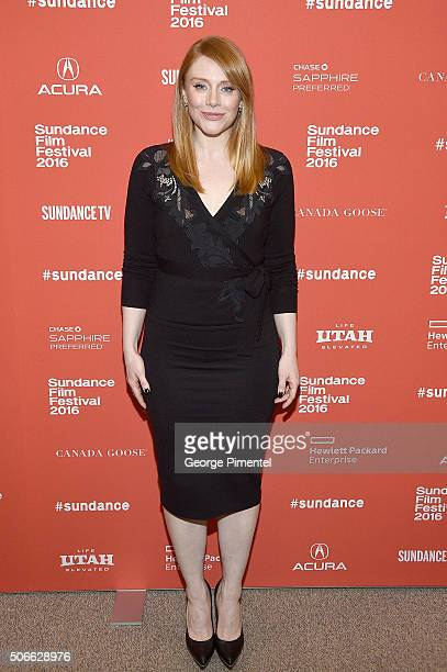 Actress Bryce Dallas Howard attends 'Southside With You' Premiere during the 2016 Sundance Film Festival at Eccles Center Theatre on January 24 2016...