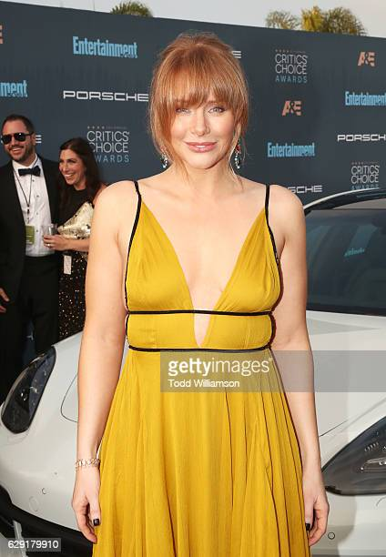 Actress Bryce Dallas Howard attends the 22nd annual Critics' Choice Awards with Porsche and the 2017 Panamera 4 EHybrid Executive at Barker Hangar on...