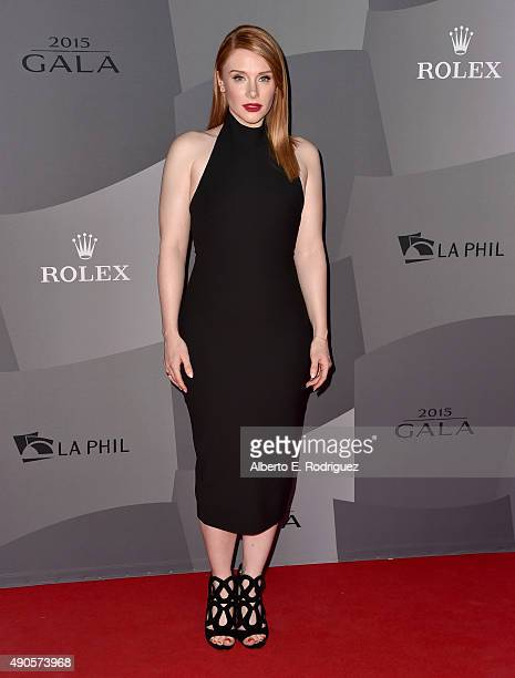 Actress Bryce Dallas Howard attends The Los Angeles Philharmonic 2015/2016 Season Opening Night Gala at the Walt Disney Concert Hall on September 29...