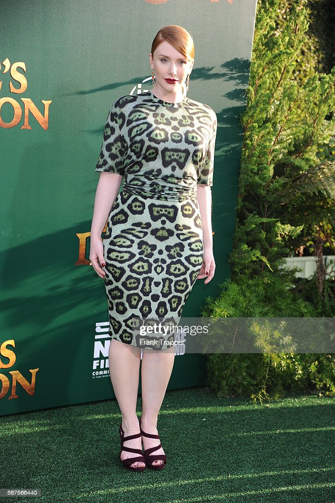 Actress Bryce Dallas Howard attends the premiere of Disney's 'Pete's Dragon' held at the El Capitan Theater on August 8 2016 in Hollywood California