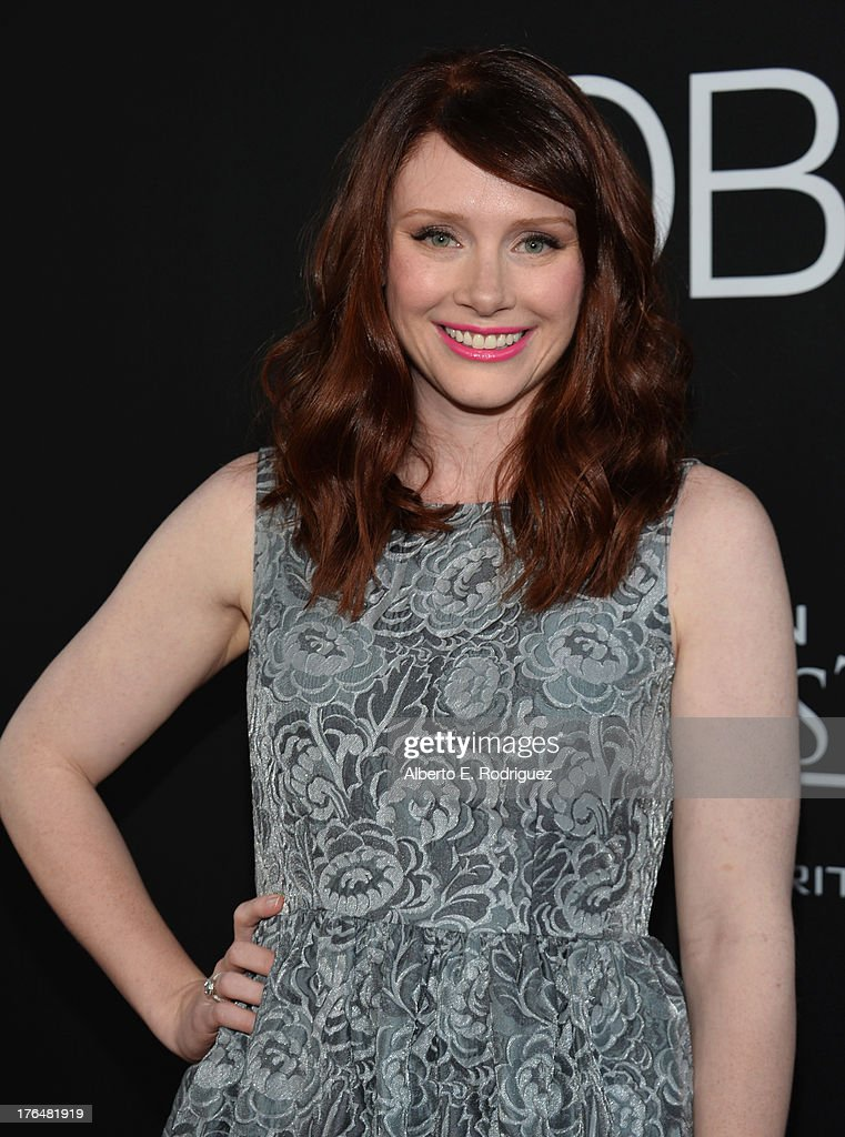 Actress <a gi-track='captionPersonalityLinkClicked' href=/galleries/search?phrase=Bryce+Dallas+Howard&family=editorial&specificpeople=156411 ng-click='$event.stopPropagation()'>Bryce Dallas Howard</a> attends the screening of Open Road Films and Five Star Feature Films' 'Jobs' at Regal Cinemas L.A. Live on August 13, 2013 in Los Angeles, California.