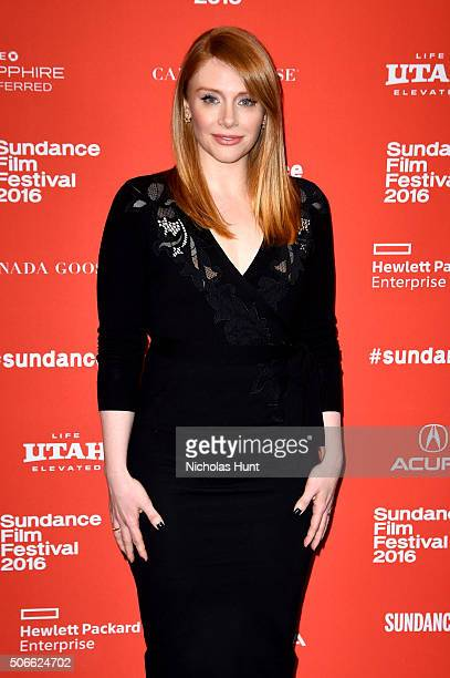 Actress Bryce Dallas Howard attends the 'Southside With You' Premiere during the 2016 Sundance Film Festival at Eccles Center Theatre on January 24...