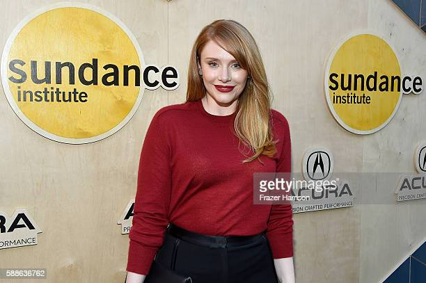 Actress Bryce Dallas Howard attends the Sundance Institute NIGHT BEFORE NEXT Benefit at The Theatre at The Ace Hotel on August 11 2016 in Los Angeles...