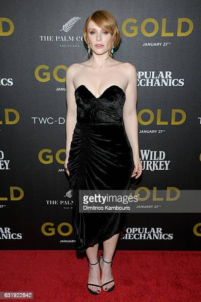 Actress Bryce Dallas Howard attends The World Premiere of 'Gold' hosted by TWC Dimension with Popular Mechanics The Palm Court Wild Turkey Bourbon at...