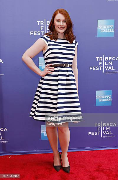 Actress Bryce Dallas Howard attends Tribeca Talks Director's Series Mira Nair With Bryce Dallas Howard during the 2013 Tribeca Film Festival on April...