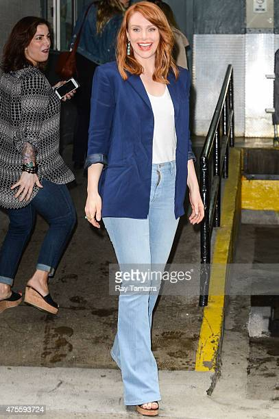 Actress Bryce Dallas Howard enters the 'HuffPost Live' taping at the Huffington Post Studios on June 1 2015 in New York City