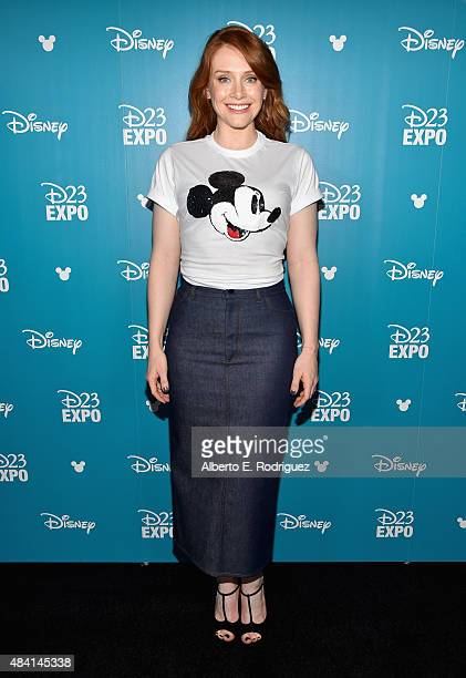 Actress Bryce Dallas Howard of PETE'S DRAGON took part today in 'Worlds Galaxies and Universes Live Action at The Walt Disney Studios' presentation...