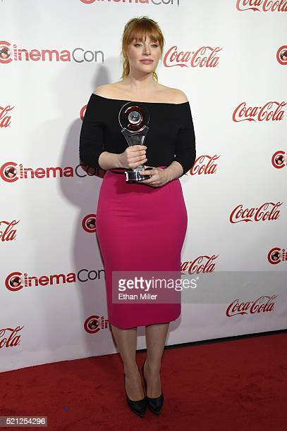 Actress Bryce Dallas Howard recipient of the Excellence in Acting Award attends the CinemaCon Big Screen Achievement Awards brought to you by the...