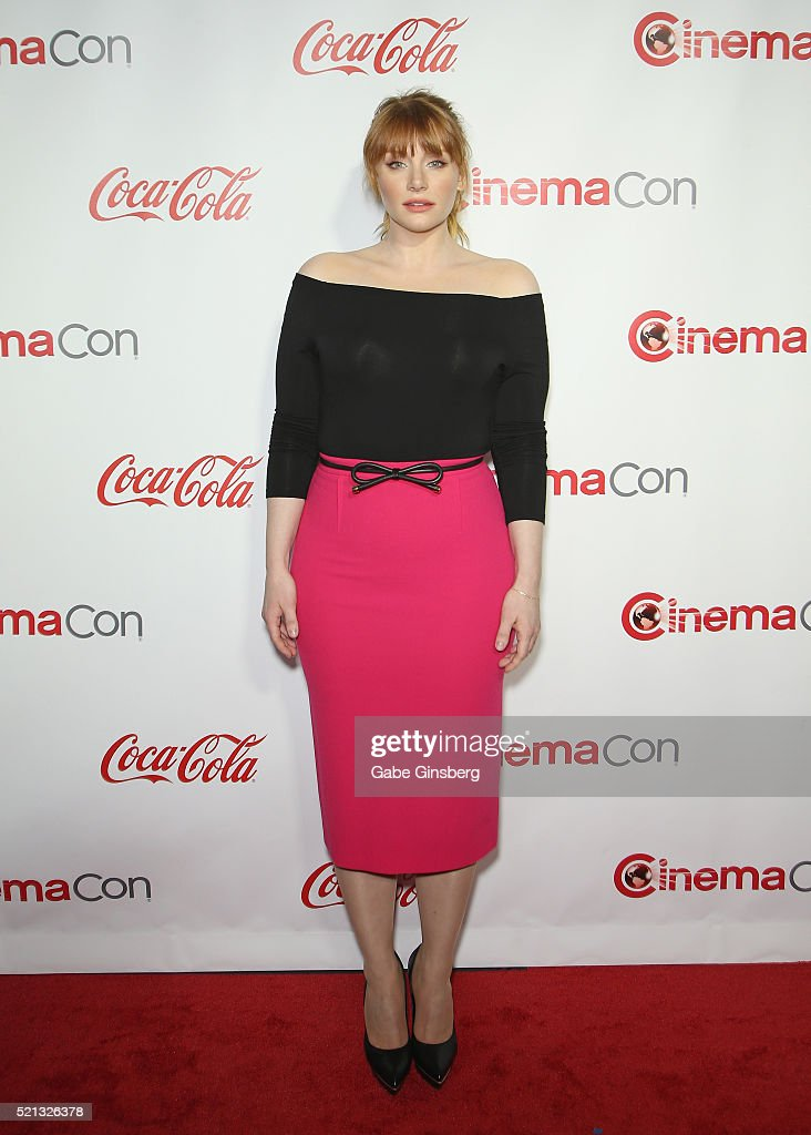 Actress Bryce Dallas Howard recipient of the Excellence in Acting Award attends the CinemaCon Big Screen Achievement Awards at Omnia Nightclub at...