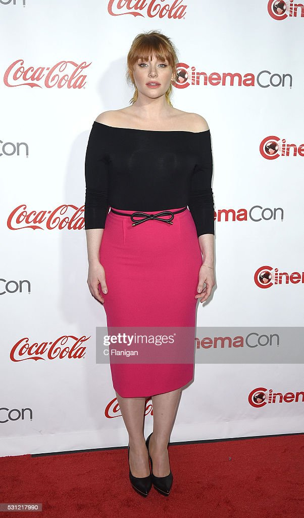Actress Bryce Dallas Howard, recipient of the Excellence in Acting Award, attends the CinemaCon Big Screen Achievement Awards brought to you by the Coca-Cola Company at Omnia Nightclub at Caesars Palace during CinemaCon, the official convention of the National Association of Theatre Owners, on April 14, 2016 in Las Vegas, Nevada.