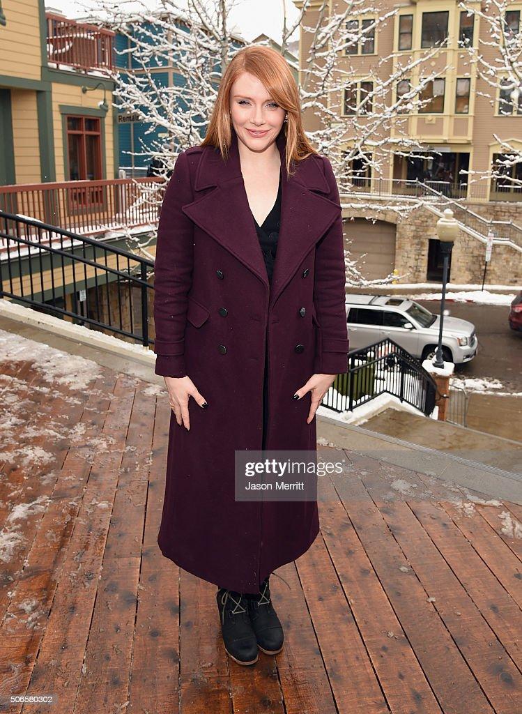 Actress Bryce Dallas Howard wears Sorels around Park City on January 24, 2016 in Park City, Utah.