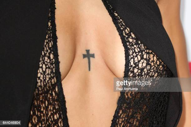 Actress Brytni Sarpy Tattoo Detail attends OK Magazine's annual preOscar event at Nightingale Plaza on February 22 2017 in Los Angeles California
