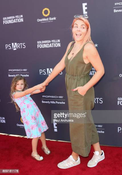 Actress Busy Philipps and her daughter Cricket Pearl Silverstein attend PS ARTS' Express Yourself 2017 event at Barker Hangar on October 8 2017 in...