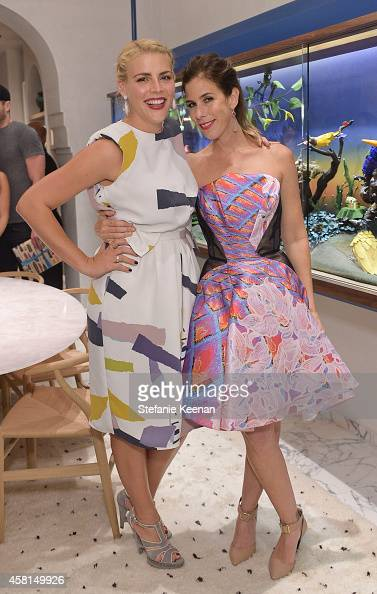 Actress Busy Philipps and jewelry designer Irene Neuwirth attend the Irene Neuwirth Flagship Grand Opening on October 30 2014 in West Hollywood...
