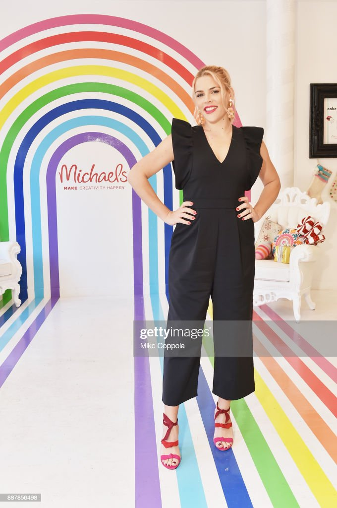 Actress Busy Philipps and Michaels host a celebration of the season's greatest DIY gifts at NYC's Flour Shop, with an interactive master class on packaging the best holiday presents with festive, personal flair on December 7, 2017 in New York City.