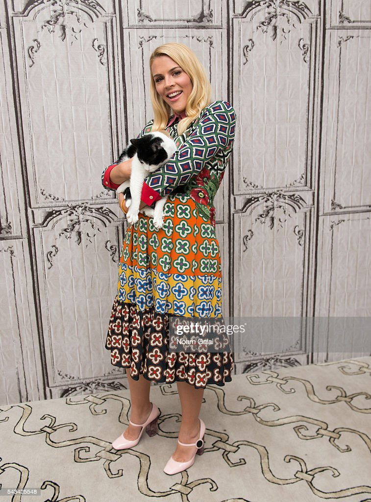 Actress Busy Philipps and Norton the cat visit AOL Build to discuss 'Vice Principals' at AOL Studios In New York on June 28, 2016 in New York City.