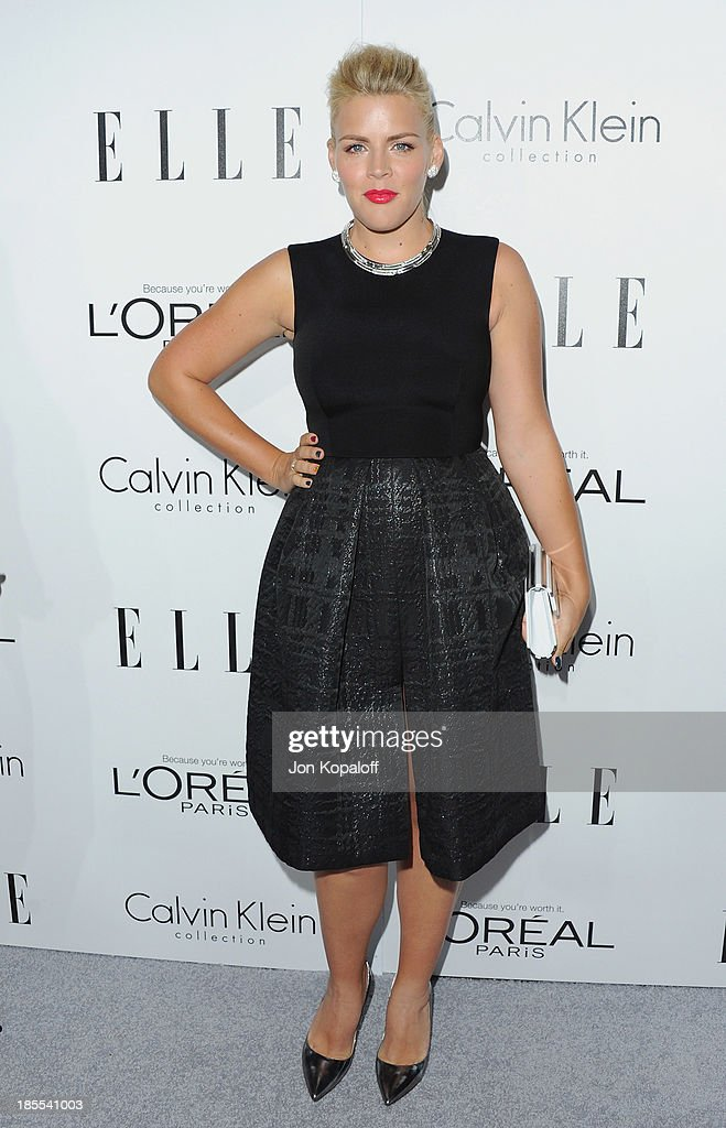 Actress <a gi-track='captionPersonalityLinkClicked' href=/galleries/search?phrase=Busy+Philipps&family=editorial&specificpeople=216133 ng-click='$event.stopPropagation()'>Busy Philipps</a> arrives at ELLE Celebrates 20th Annual Women In Hollywood Event at Four Seasons Hotel Los Angeles at Beverly Hills on October 21, 2013 in Beverly Hills, California.