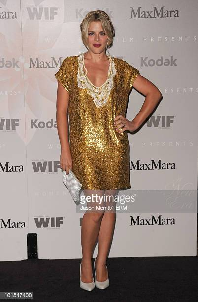 Actress Busy Philipps arrives at the 2010 Crystal Lucy Awards A New Era at Hyatt Regency Century Plaza on June 1 2010 in Century City California