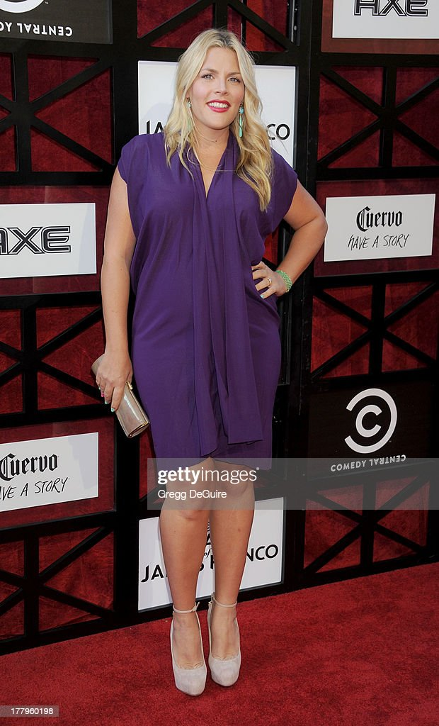 Actress Busy Philipps arrives at the Comedy Central Roast of James Franco at Culver Studios on August 25, 2013 in Culver City, California.