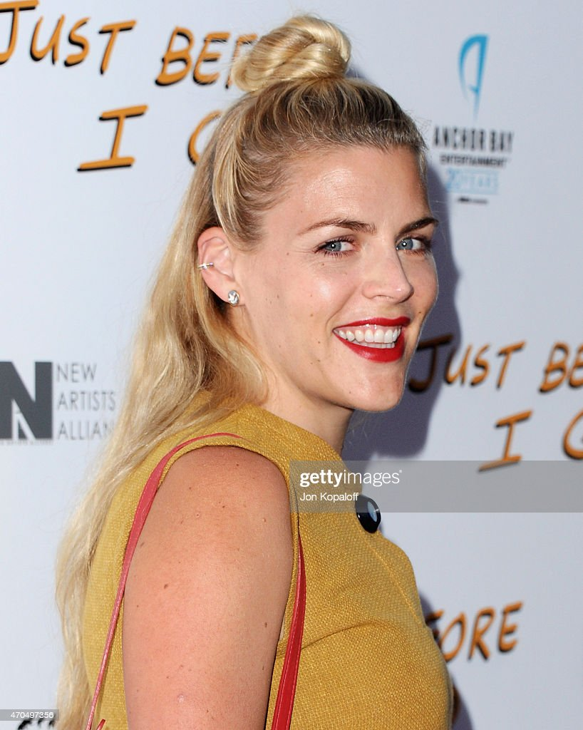 Actress Busy Philipps arrives at the Los Angeles Special Screening of 'Just Before I Go' at ArcLight Hollywood on April 20 2015 in Hollywood...
