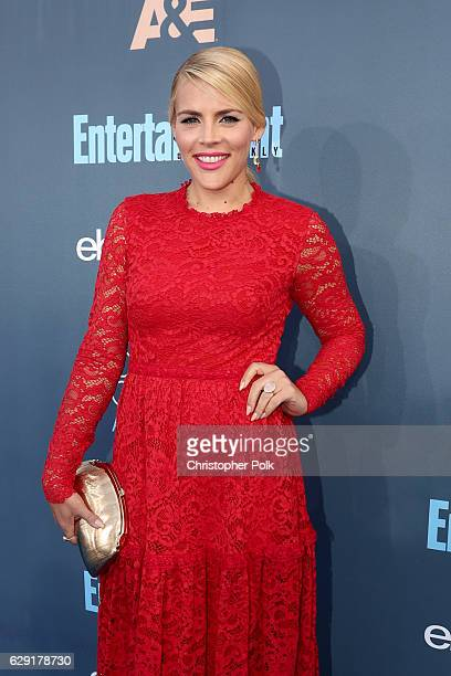 Actress Busy Philipps attends The 22nd Annual Critics' Choice Awards at Barker Hangar on December 11 2016 in Santa Monica California