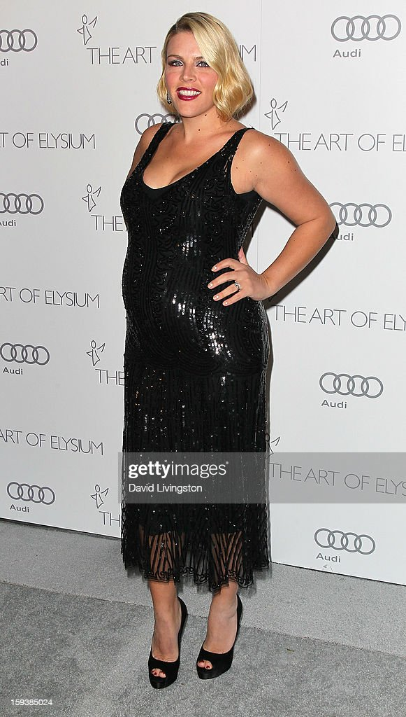 Actress <a gi-track='captionPersonalityLinkClicked' href=/galleries/search?phrase=Busy+Philipps&family=editorial&specificpeople=216133 ng-click='$event.stopPropagation()'>Busy Philipps</a> attends the Art of Elysium's 6th Annual Black-tie Gala 'Heaven' at 2nd Street Tunnel on January 12, 2013 in Los Angeles, California.