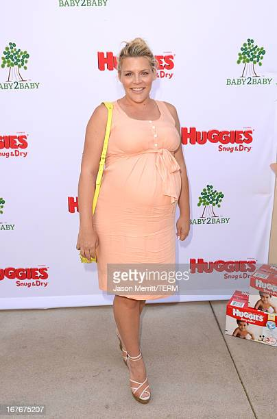 Actress Busy Philipps attends the Huggies Snug Dry and Baby2Baby Mother's Day Garden Party held on April 27 2013 in Los Angeles California