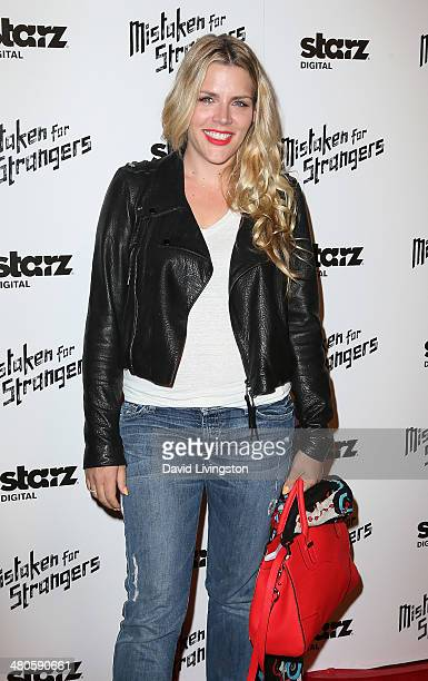 Actress Busy Philipps attends the Los Angeles screening of 'Mistaken for Strangers' at The Shrine Auditorium on March 25 2014 in Los Angeles...