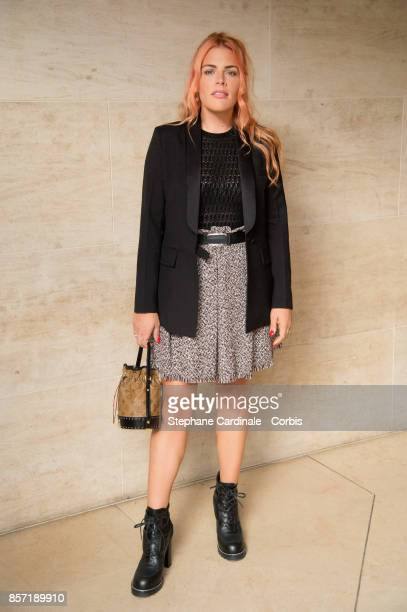 Actress Busy Philipps attends the Louis Vuitton show as part of the Paris Fashion Week Womenswear Spring/Summer 2018 at Musee du Louvre on October 3...