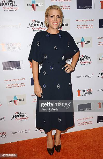 Actress Busy Philipps attends the No Kid Hungry campaign fundraising dinner at Ron Burkle's Green Acres Estate on October 25 2014 in Beverly Hills...