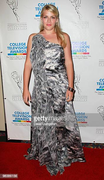Actress Busy Philipps attends the press room during the 31st Annual College Television Awards at Renaissance Hollywood Hotel on April 10 2010 in...