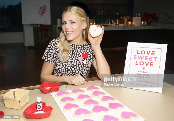 Actress Busy Philipps decorating cookies at the Michaels Galentine's Day Celebration at Andaz Hotel on February 2 2017 in Los Angeles California