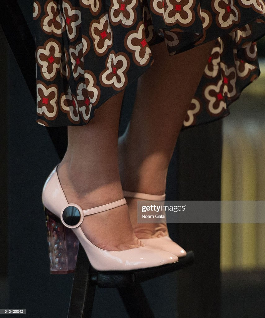 Actress Busy Philipps, shoe detail, visits AOL Build to discuss 'Vice Principals' at AOL Studios In New York on June 28, 2016 in New York City.