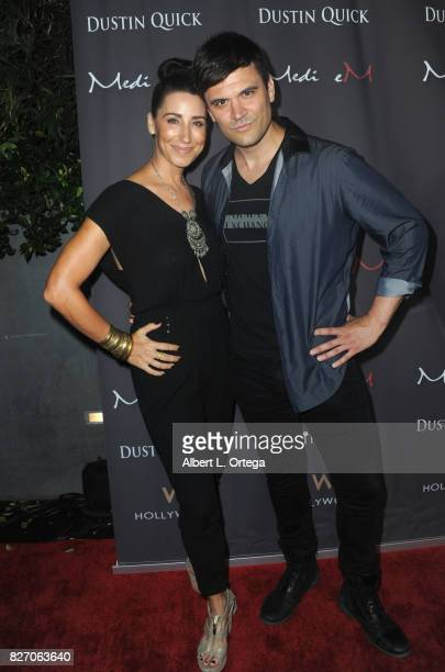 Actress C Ashleigh Caldwell and Kash Hovey at the Music Video Premiere HEARTBEAT by Medi eM Dustin Quick held on August 5 2017 at Statioh W Hotel in...
