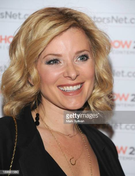 Actress Cady McClain attends the opening night premiere party for LA Art Show 2013 at Los Angeles Convention Center on January 23 2013 in Los Angeles...