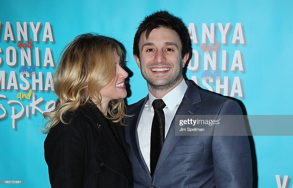 Actress Caissie Levy and guest attend the 'Vanya And Sonia And Masha And Spike' Broadway opening night at The Golden Theatre on March 14, 2013 in New York City.