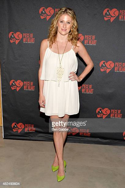 Actress Caissie Levy attends 'Piece of My Heart The Bert Berns Story' opening night at The Pershing Square Signature Center on July 21 2014 in New...
